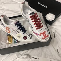 CHANEL Unisex Street Style Collaboration Logo Sneakers
