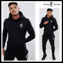 Gym King Blended Fabrics Street Style Oversized Top-bottom sets