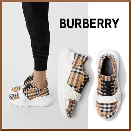 Tartan Leather Low-Top Sneakers