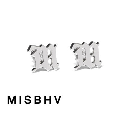 Unisex Street Style Silver Earrings