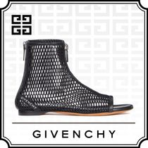 GIVENCHY Open Toe Plain Ankle & Booties Boots