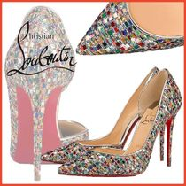 Christian Louboutin Other Check Patterns Blended Fabrics Leather Pin Heels