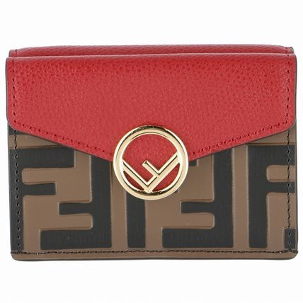 FENDI Folding Wallets Monogram Leather Folding Wallets 2