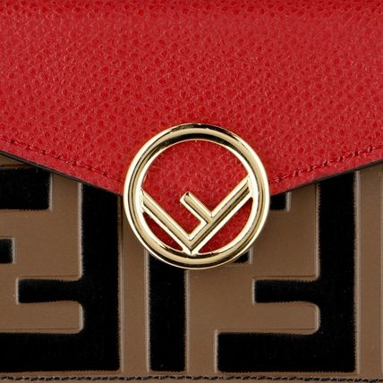 FENDI Folding Wallets Monogram Leather Folding Wallets 4