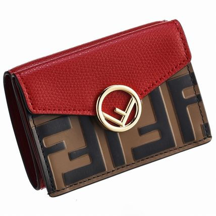 FENDI Folding Wallets Monogram Leather Folding Wallets 6