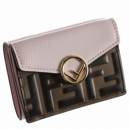 FENDI Folding Wallets Monogram Leather Folding Wallets 13