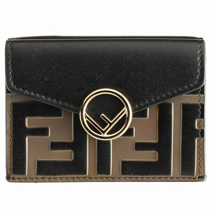 FENDI Folding Wallets Monogram Leather Folding Wallets 14