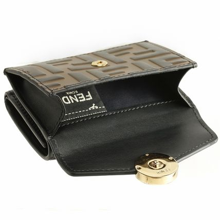 FENDI Folding Wallets Monogram Leather Folding Wallets 19