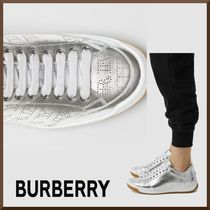 Burberry Leather Low-Top Sneakers
