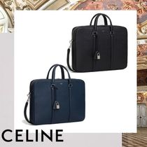 CELINE Unisex Calfskin A4 2WAY Plain Business & Briefcases