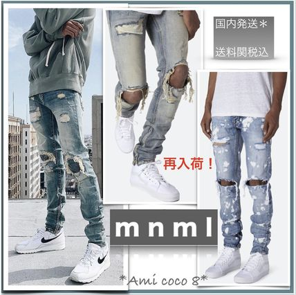 MNML More Jeans Street Style Plain Cotton Jeans