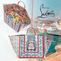 Christian Louboutin Crystal Clear Bags PVC Clothing Totes