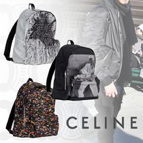 CELINE Unisex Nylon Street Style A4 2WAY Backpacks
