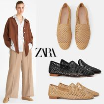 ZARA Platform Round Toe Casual Style Lace-Up Shoes