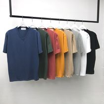 V-Neck Plain Cotton V-Neck T-Shirts
