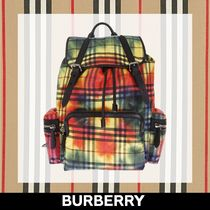 Burberry Other Check Patterns Backpacks