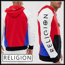Religion Street Style Long Sleeves Cotton Logos on the Sleeves