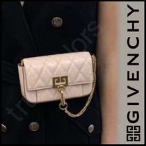 GIVENCHY 3WAY Chain Plain Leather Elegant Style Shoulder Bags