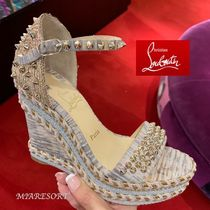 Christian Louboutin Madmonica Open Toe Platform & Wedge Sandals
