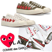 COMME des GARCONS Heart Unisex Collaboration Plain Sneakers