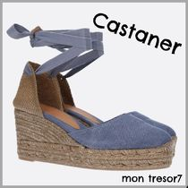 Castaner Round Toe Lace-up Plain Elegant Style