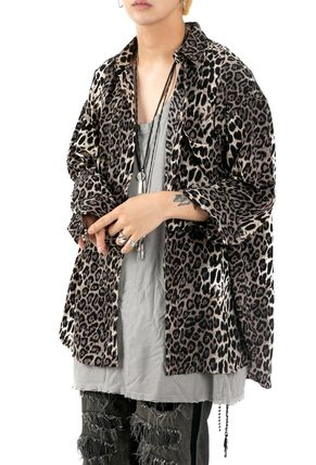 Leopard Patterns Long Sleeves Oversized Shirts