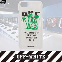 Off-White Tropical Patterns Handmade Smart Phone Cases