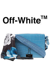 Off-White Leather Elegant Style Shoulder Bags