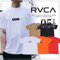 RVCA Unisex Plain Short Sleeves T-Shirts