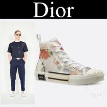 Christian Dior Flower Patterns Blended Fabrics Street Style Sneakers
