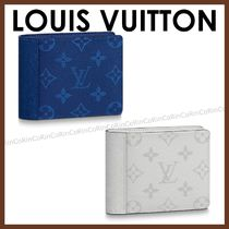 Louis Vuitton TAIGA Monogram Leather Folding Wallets