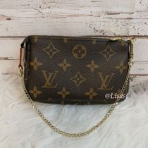 Louis Vuitton MONOGRAM Monogram Canvas Blended Fabrics Bi-color Chain