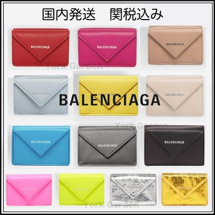 Unisex Calfskin Plain Folding Wallets