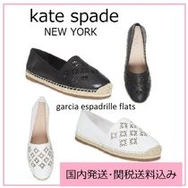 kate spade new york Plain Toe Rubber Sole Casual Style Flats