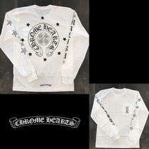 CHROME HEARTS Unisex Studded Street Style U-Neck Plain Short Sleeves