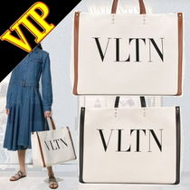 VALENTINO Casual Style Unisex Canvas A4 Totes