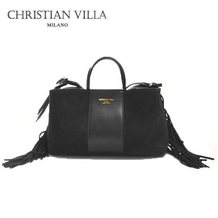 Casual Style 2WAY Plain Leather Shoulder Bags