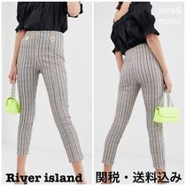 River Island Other Check Patterns Zigzag Long Elegant Style Skinny Pants