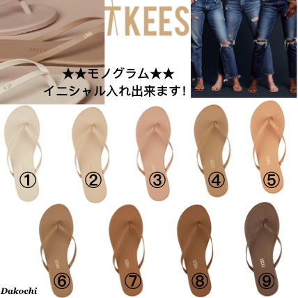 09b97656c ... TKEES Flat Rubber Sole Casual Style Leather Flip Flops Flat Sandals ...