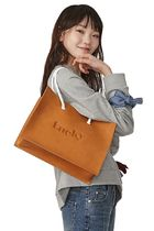 COURONNE Casual Style Calfskin Bag in Bag Plain Shoulder Bags