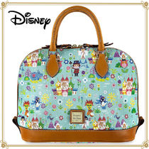 Disney Flower Patterns Casual Style Collaboration 2WAY Leather