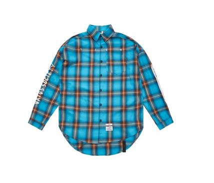 STIGMA Shirts Other Check Patterns Street Style Long Sleeves Cotton 14