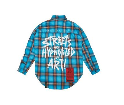 STIGMA Shirts Other Check Patterns Street Style Long Sleeves Cotton 15