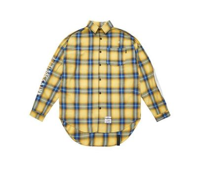 STIGMA Shirts Other Check Patterns Street Style Long Sleeves Cotton 16
