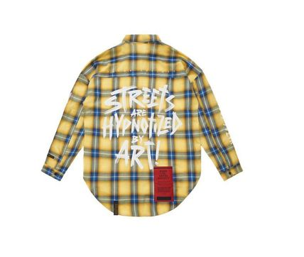 STIGMA Shirts Other Check Patterns Street Style Long Sleeves Cotton 17