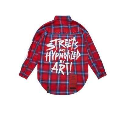 STIGMA Shirts Other Check Patterns Street Style Long Sleeves Cotton 3