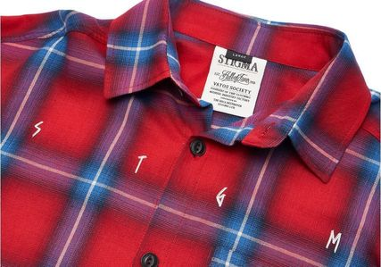 STIGMA Shirts Other Check Patterns Street Style Long Sleeves Cotton 4
