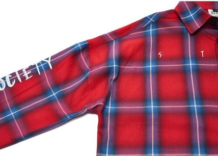 STIGMA Shirts Other Check Patterns Street Style Long Sleeves Cotton 6