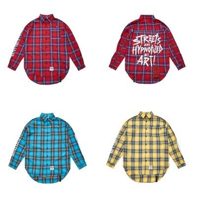 STIGMA Shirts Other Check Patterns Street Style Long Sleeves Cotton