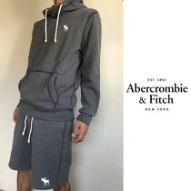 Abercrombie & Fitch Pullovers Street Style Cotton Oversized Hoodies